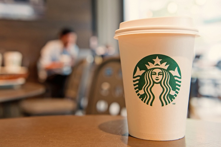 Starbucks coffee cup with logo